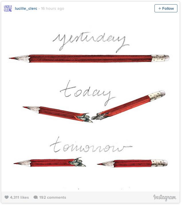 It ain't Banksy! Meet @LucilleClerc, artist behind the iconic #CharlieHebdo pencil tribute http://t.co/dSLrOOGQN7 http://t.co/TU2rtmUSd9