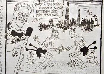 福島の原発事故後にフランスの新聞社がこんな風刺画を掲載して波紋呼んだこともありましたよね、表現の自由といえば守られる冒涜はやはりあってはならない。テロも問題だが、ここを議論する必要もあるのです。明日朝7時〜MXで話します。 #クロス http://t.co/8zlg4OTTsH