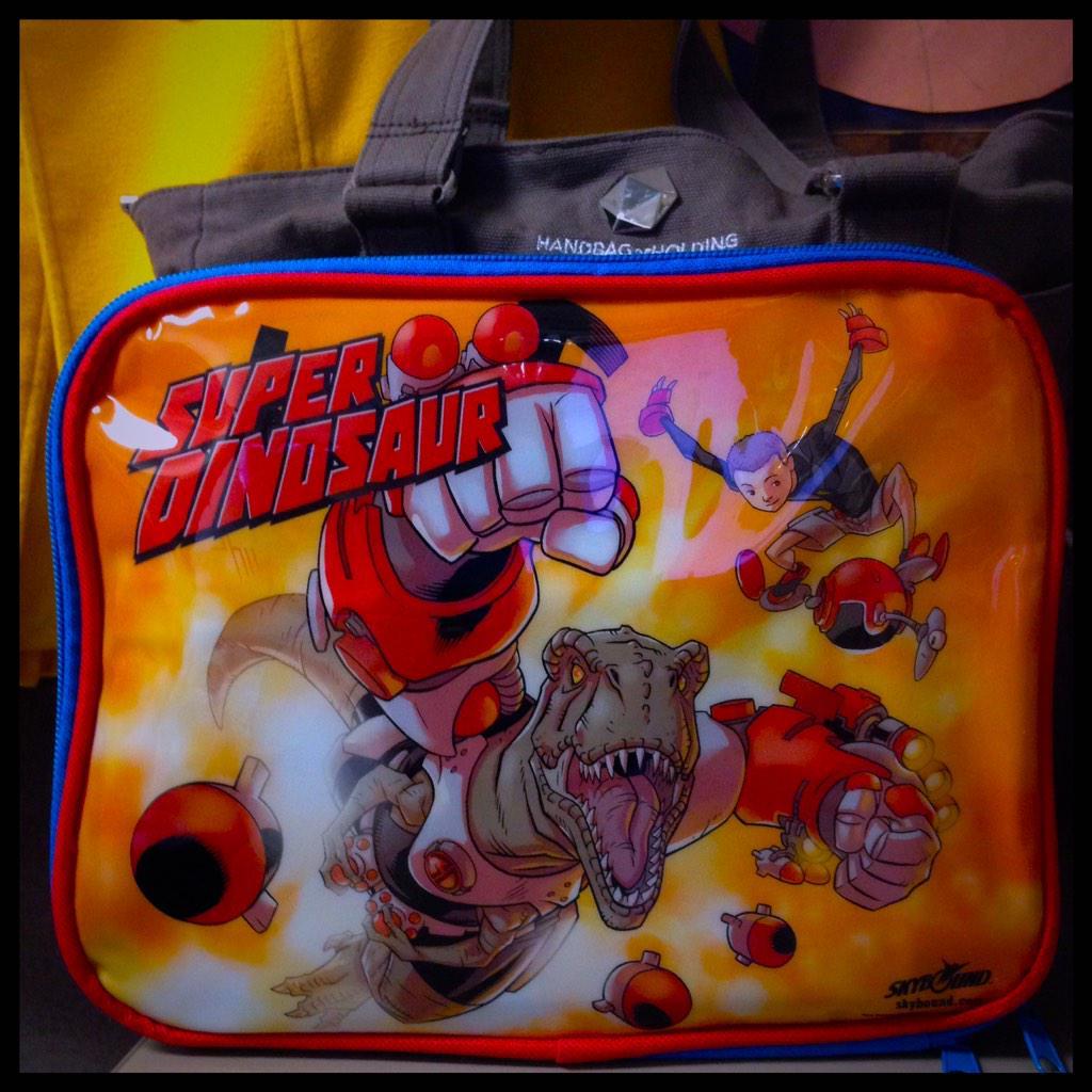 WOOT! RT @carlyyougoonie: Hey @Skybound! Been rocking my #MysteryBox #SuperDinosaur lunch bag at work this week. <br>http://pic.twitter.com/UNdDhkOTY4