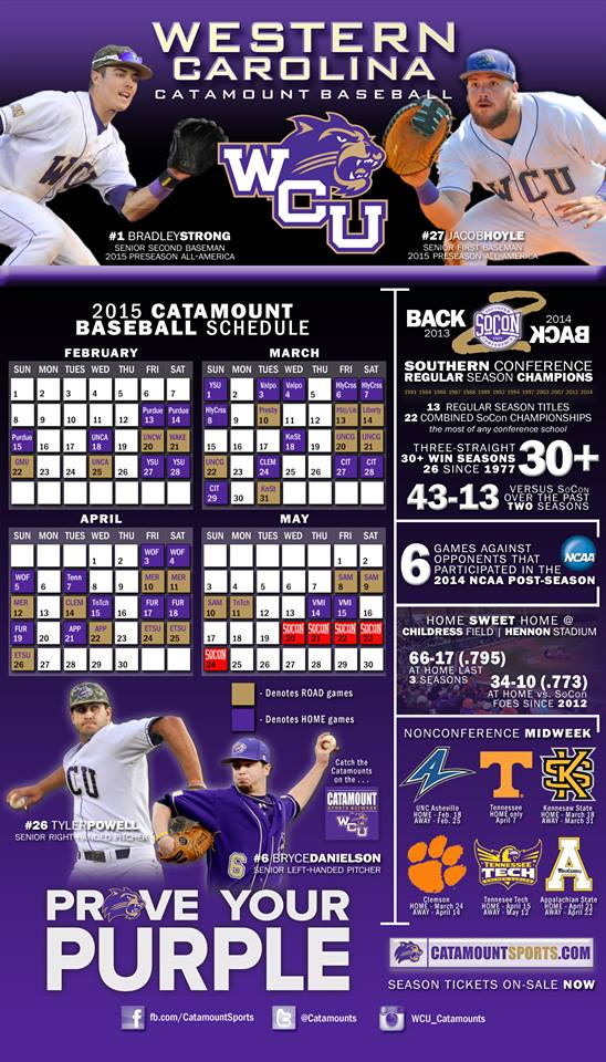 Catamount Baseball Schedule