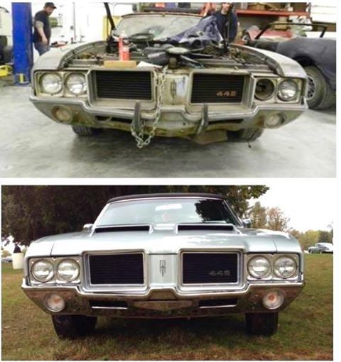 Thornton Muscle Cars On Twitter Before And After Oldsmobile