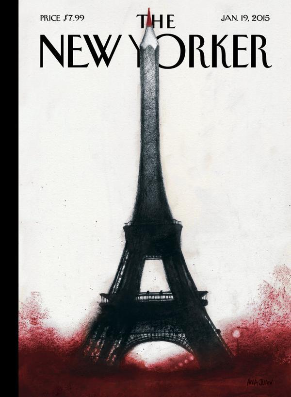 """@14guille """"@NewYorker's cover #JeSuisCharlie http://t.co/SlYDwL4JCV"""""""