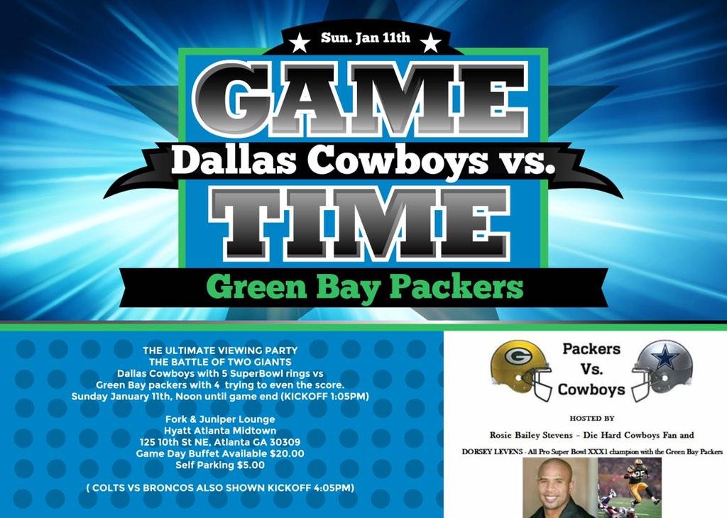 Join me as the Packers smash the Cowboys on Sunday! Cowboy fans may attend just don't talk to me during the game :) http://t.co/UC8guzotle