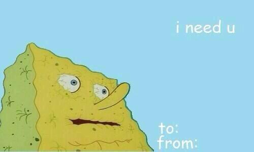 Valentine Cards vdaycardz101 – Spongebob Valentines Day Card