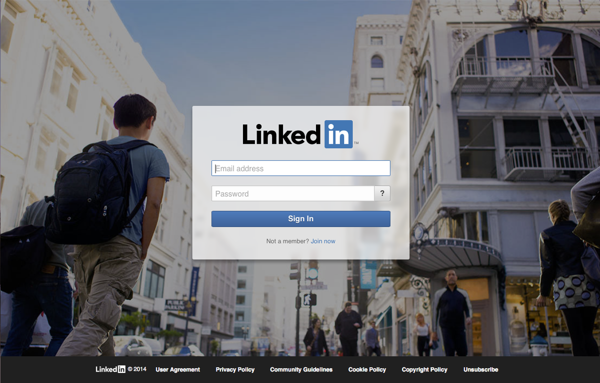 Cool background picture for linkedin for Fresh home login