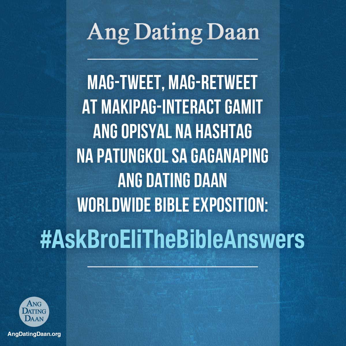 ang dating daan official website Asop music festival year 5 grand finalists explain the real story behind their song entries ang dating daan's official site ang dating daan's.