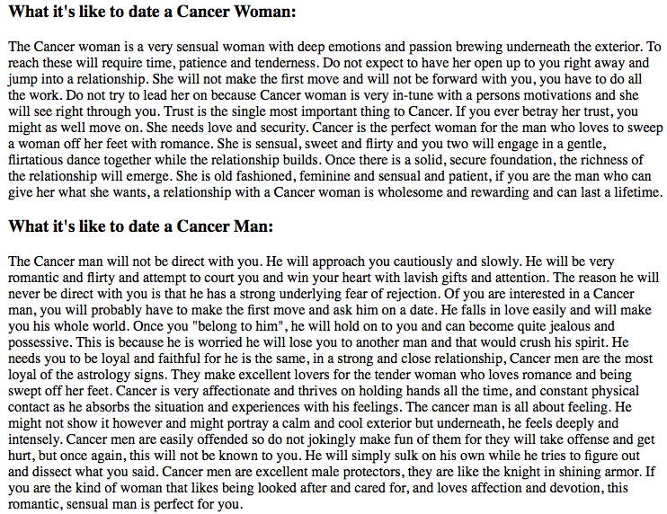 How To Date A Cancer Woman