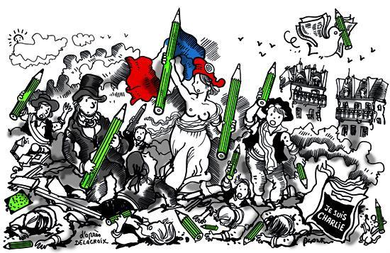 LA LIBERTÉ SERA TOUJOURS LA PLUS FORTE. Dessin du Monde de ce vendredi. http://t.co/SAQii4iLhY
