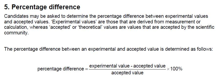 How to find percentage difference in physics