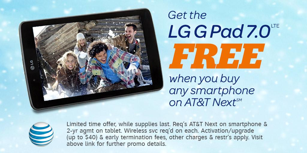 Get a smartphone for a great deal, and the LG G Pad tablet for a steal! Details: http://t.co/nzN3bpcwXL http://t.co/rlbxY37R7I