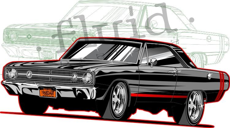 Dodge Dart GTS 1968 by Richard Reilly: http://t.co/LZbapGKPQI http://t.co/VYm4p4ooIe