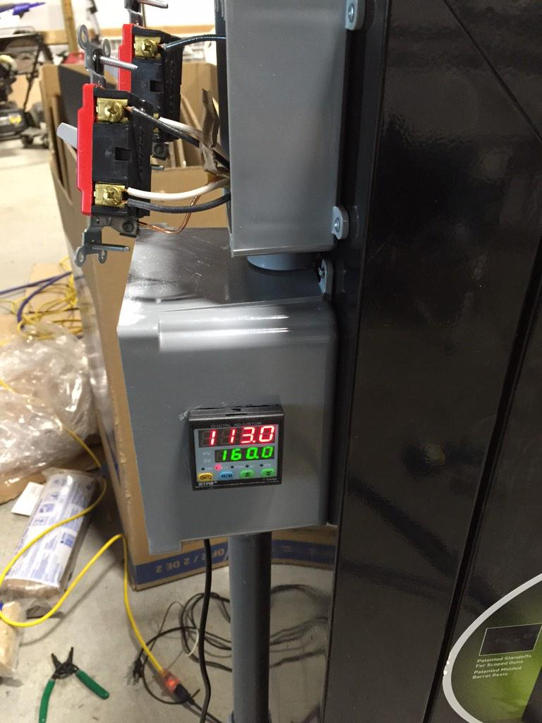 """enhanced on Twitter: """"#diy #ee finished wiring my homemade cerakote curing oven last night using a #PID and #SSR http://t.co/RPyuVXB3zF"""""""