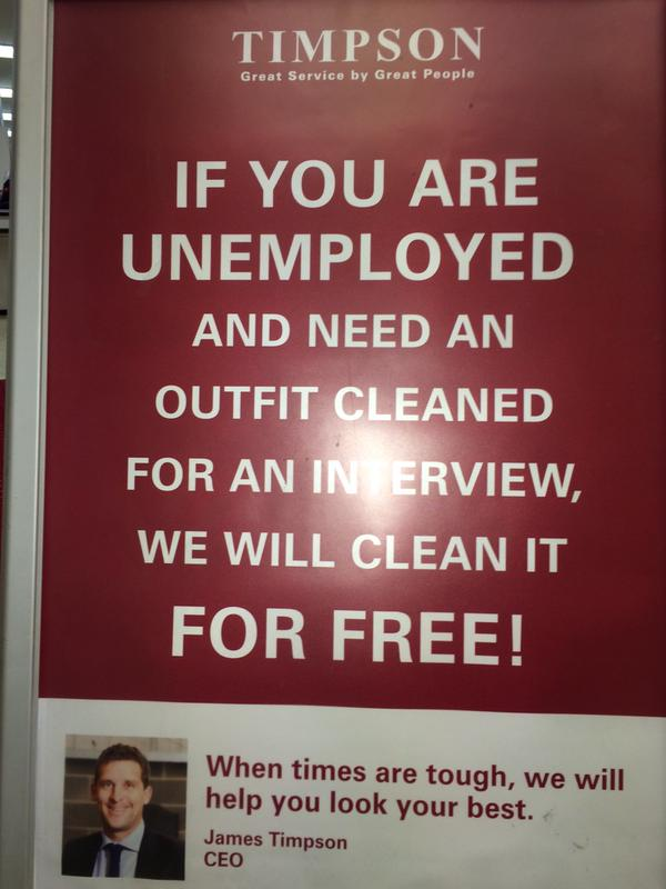 We love this from Timpsons! A great example of corporate social responsibility! http://t.co/NX9xf017ch