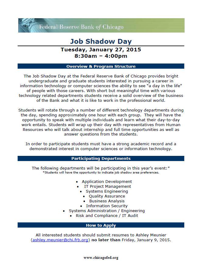 Job Shadowing Experience On Resume - Resume