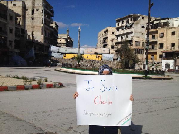 From #Aleppo #Syria #JeSuisCharlie #JeSuisAhmed #Syrie #Alep http://t.co/7SeWSetoLl