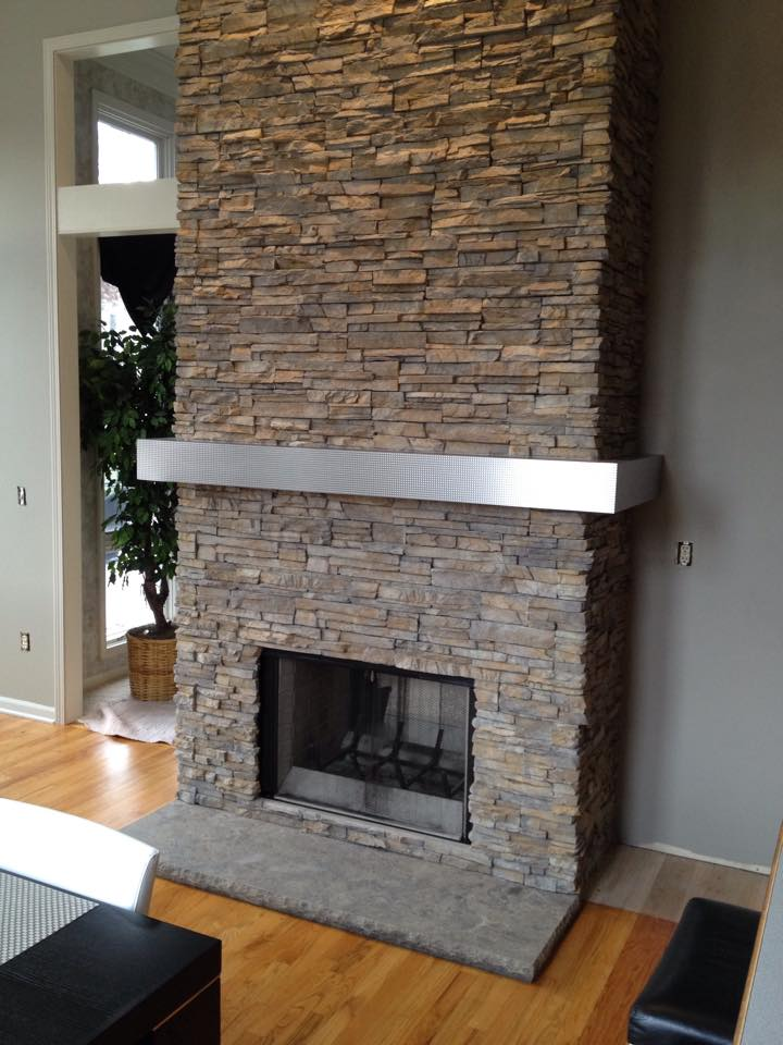 #modern #fireplaces Eldorado Stoneu0027s Stacked Stone (Nantucket) Is The  Profile. @EldoradoStonepic.twitter.com/2SheTPk6u1