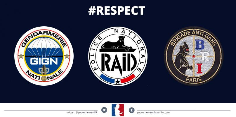 """Gouvernement on Twitter: """"Respect #GIGN #RAID #BRI http ..."""