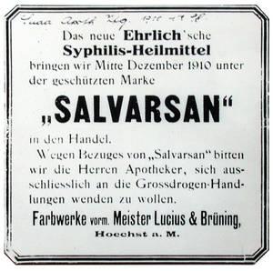 Ehrlich 1910: derivado del arsénico, arsfenamina o Salvarsán, era activo contra espiroqueta de la sífilis #microMOOC http://t.co/vcgrGuEihW