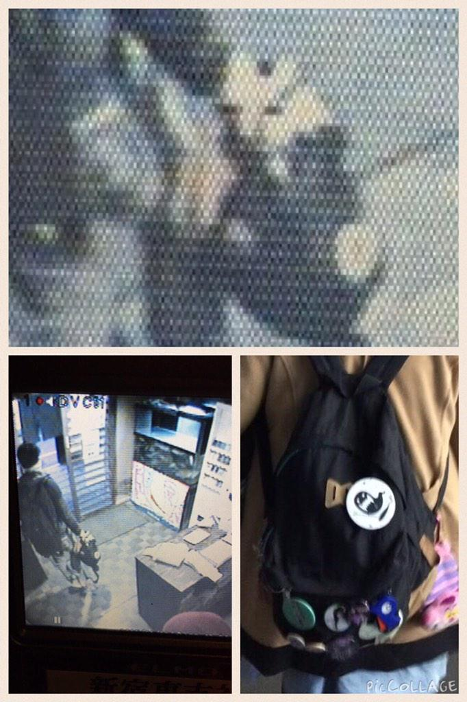 泥棒に盗られました。 新宿歌舞伎町です。捕まえそこなっちまった。SECOMさんの防犯カメラに映ってた画像がこれ。皆様見つけたら教えて欲しい。なんか気がついたら教えてよ。頼むよ。警察さんより早く捕まえたいんだ。 http://t.co/vBSO8TGmEu