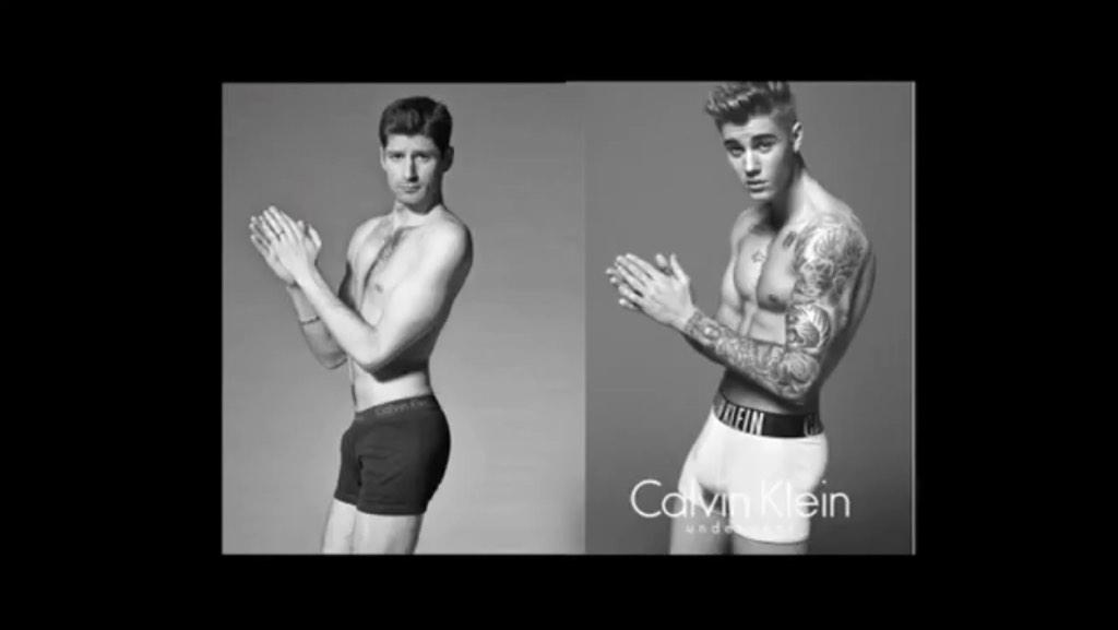 I thought @mark_wahlberg did it better than #Bieber but @ben_aaron has won!