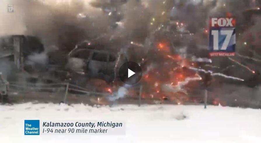 Gelo Usa: maxi-tamponamento sulla I94 in Michigan (Foto e Video).