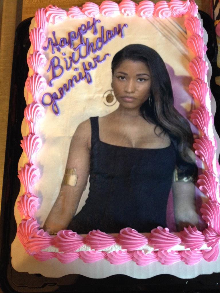 Jennifer Herron On Twitter Nickiminaj Look At My Birthday Cake