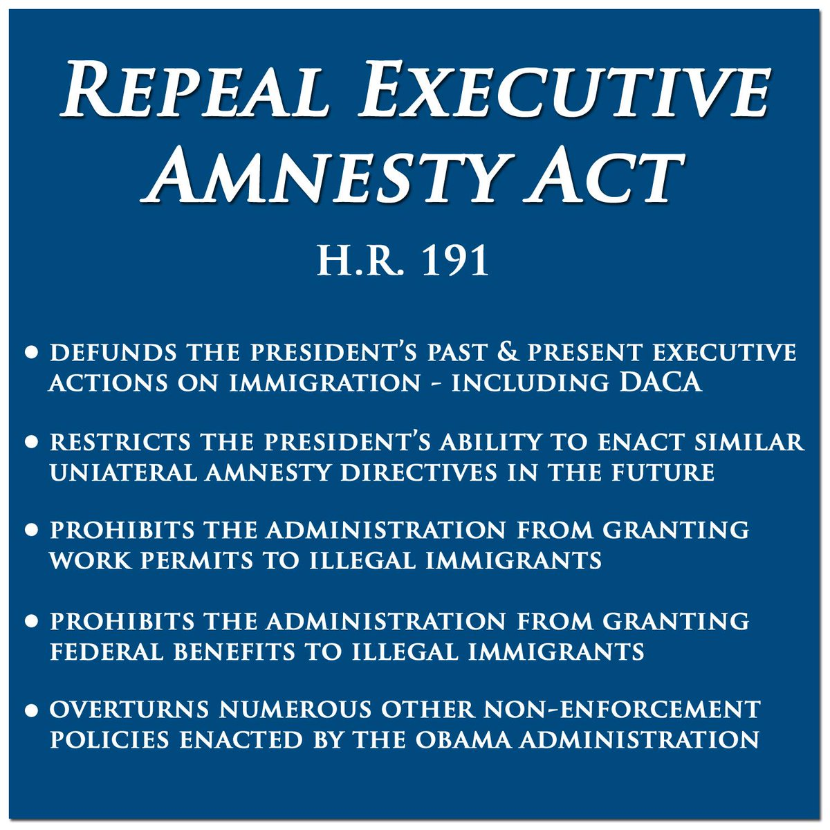 I cosponsored @Robert_Aderholt's bill to stop POTUS's amnesty & am pushing for its inclusion in the DHS approps bill. http://t.co/MdMOgLNW5G