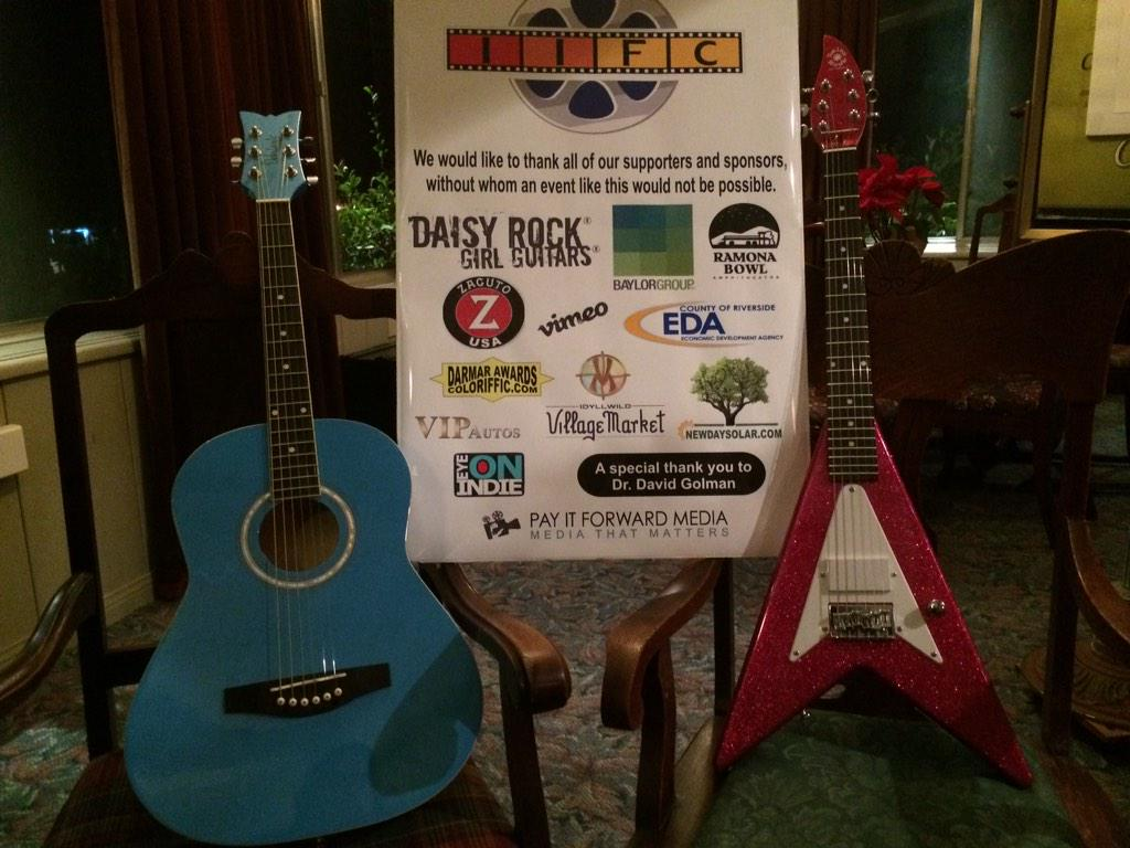 Amazing sponsor #daisyrockgirlguitars @DaisyRockGuitar #idyllwild #IIFC2015 #IIFC #FILM #Music #girlsRAWK http://t.co/u8VIiKrtij