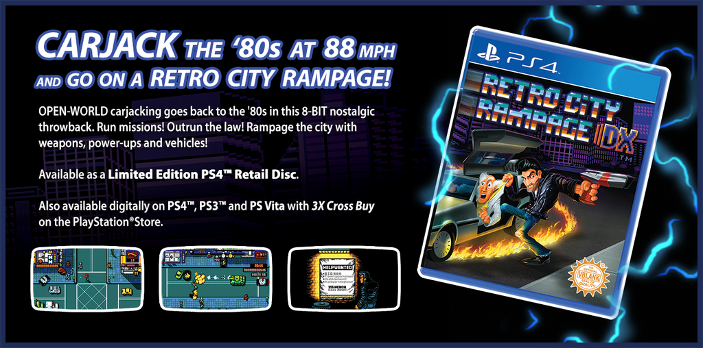 2hrs left to enter! Retweet & Follow @RetroCR - Win the rarest PS4 game ever printed, Retro City Rampage DX. http://t.co/cjaN0u6fe1