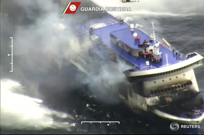 Hundreds still awaiting rescue on burning Italian ferry adrift off Greece http://t.co/jalN4XlXzi http://t.co/f1mo0ZTrFD