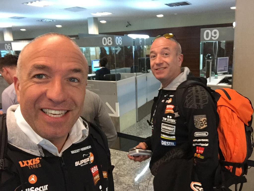 """@TomCoronel: Touchdown #buenosaires 24 degrees and #cbs good feeling already #Dakar2015 http://t.co/TsekEnnAio"" - see u on wednesday!"