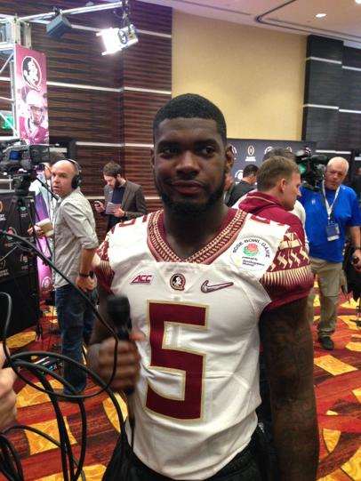 FSU LB Reggie Northrup says their scout team QB is faster than Mariota & Oregon isn't physical enough. Audio 3-7pm. http://t.co/xNP3Jxhpce