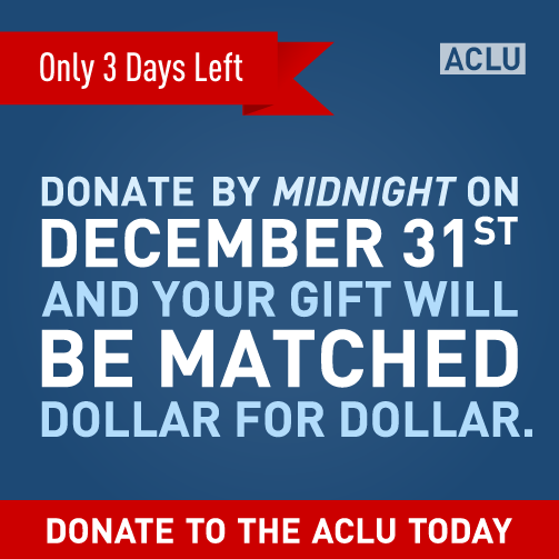 In just 3 days, our matching gift challenge will end. Donate today and double your impact. ...