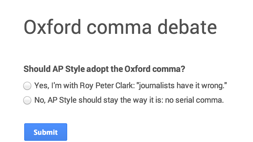 ap style guide oxford comma