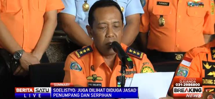 Indonesia rescue team has confirmed with 95% certainty debris of #QZ8501 found http://t.co/LuT2mt1XWk http://t.co/kbEbpxsIuv