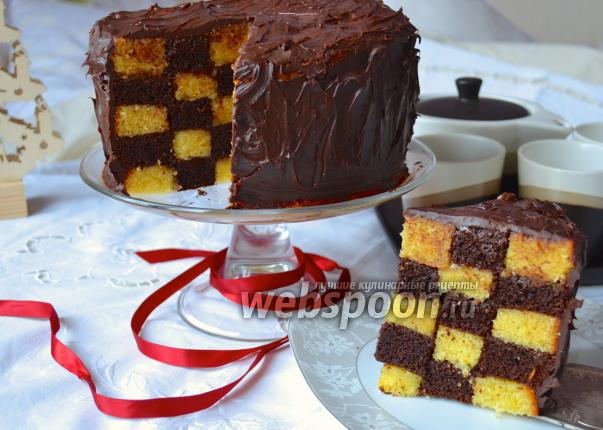 Рецепт шахматный торт