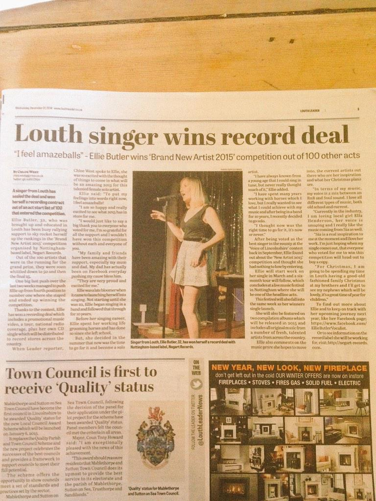 How the paper looks! Woo hoo x @LouthLeaderNews http://t.co/ZdltOIrKX3