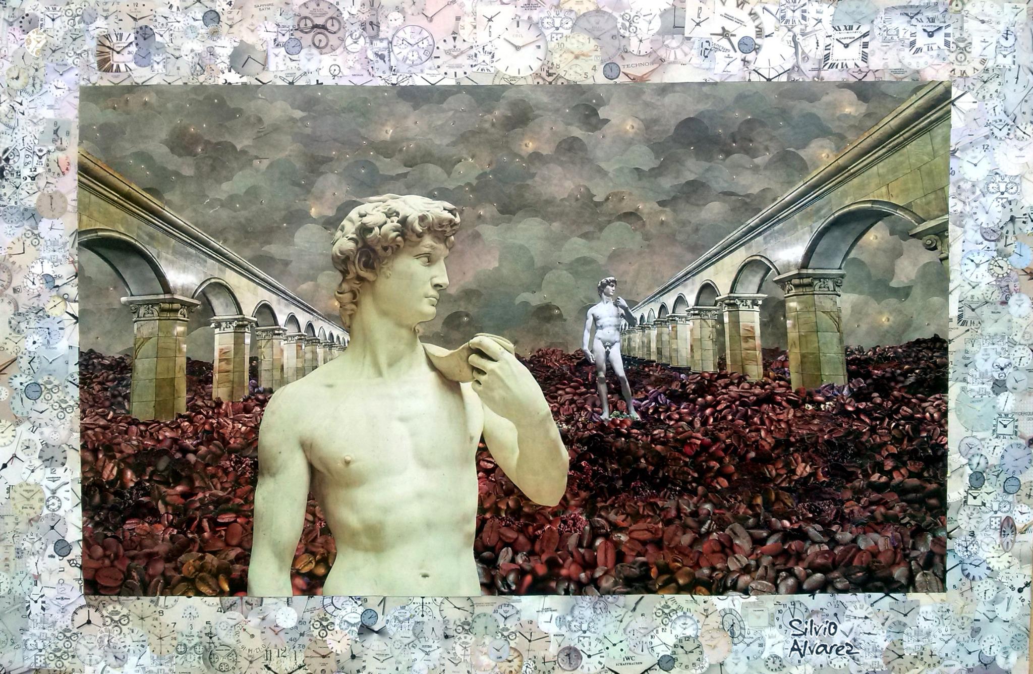 Encerrando a produção do ano com O Homem e o Tempo - collage sobre MDF - 2014 #collage #colagem #art http://t.co/oPADYG87Wx