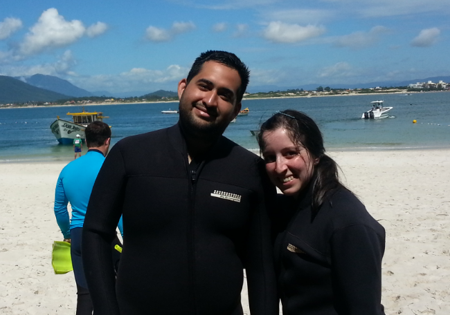 Caro and me before snorkeling