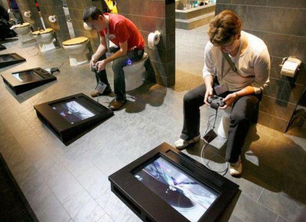 Laugh stash tv on twitter best bathroom ever gamer for Best bathrooms ever