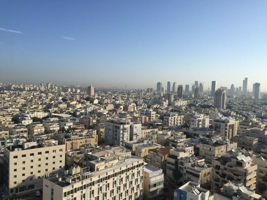 View from the conference hotel, 17th floor -- northeastern Tel-Aviv skyline