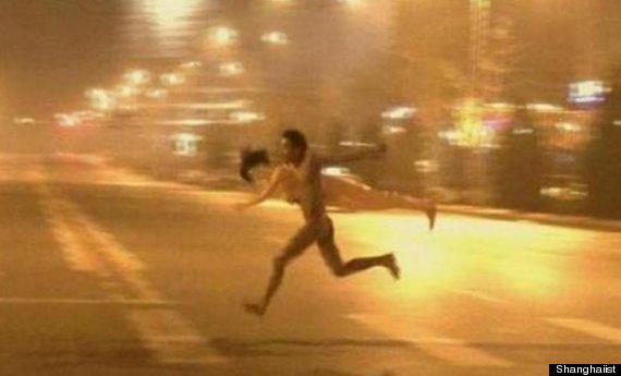 Running butt naked