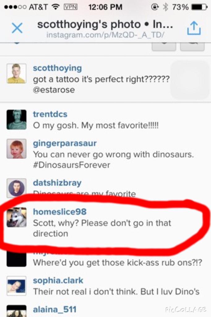 """Scott Hoying on Twitter: """"got a tattoo it's perfect right ..."""