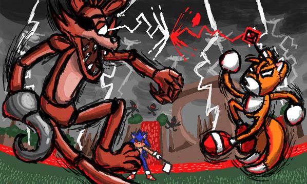 Creepypasta Vs Five Nights At Freddy S Foxy Vs Tails Doll – HD