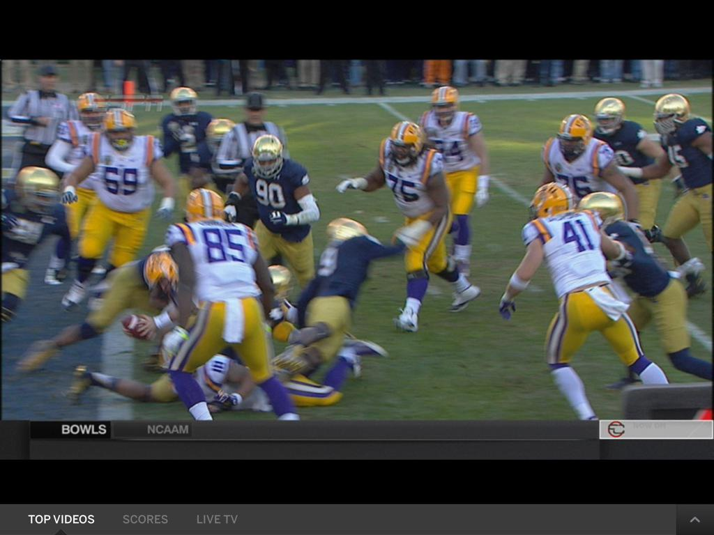Music City Bowl refs somehow decided this wasn't an LSU touchdown
