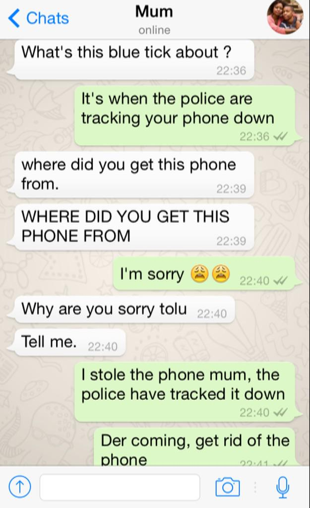 """""""@ItsMrPolo_: I had to man, can't believe my mum fell for it"""