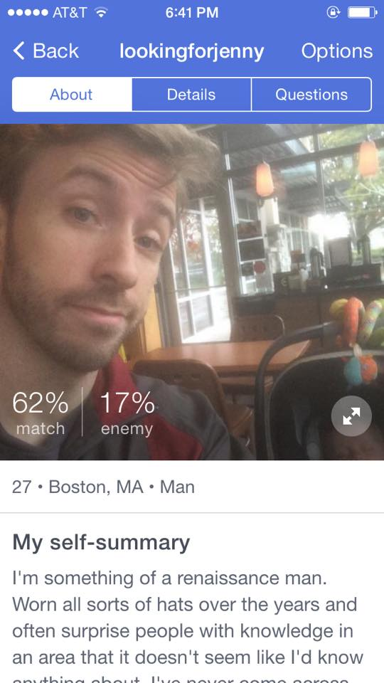 okcupid 100 enemy