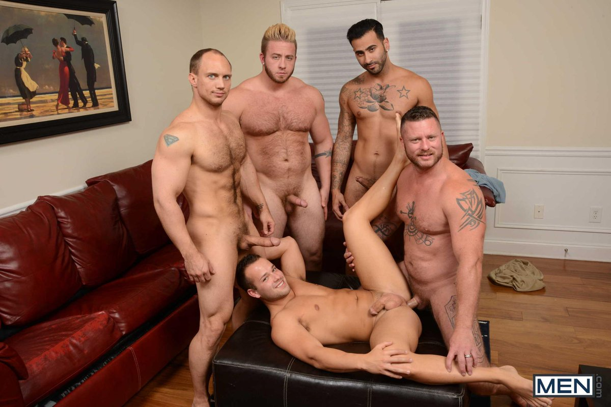 Bisexual Orgy Two Women Three Men Party
