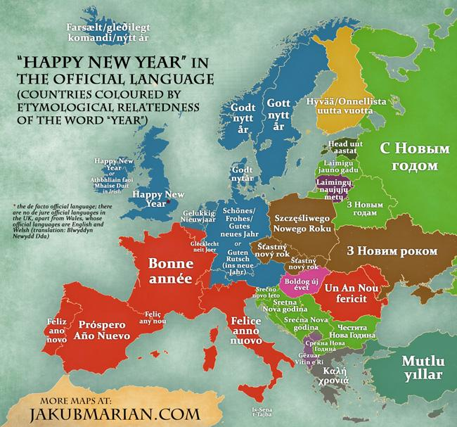 One Europe On Twitter Map Happy New Year In European Languages