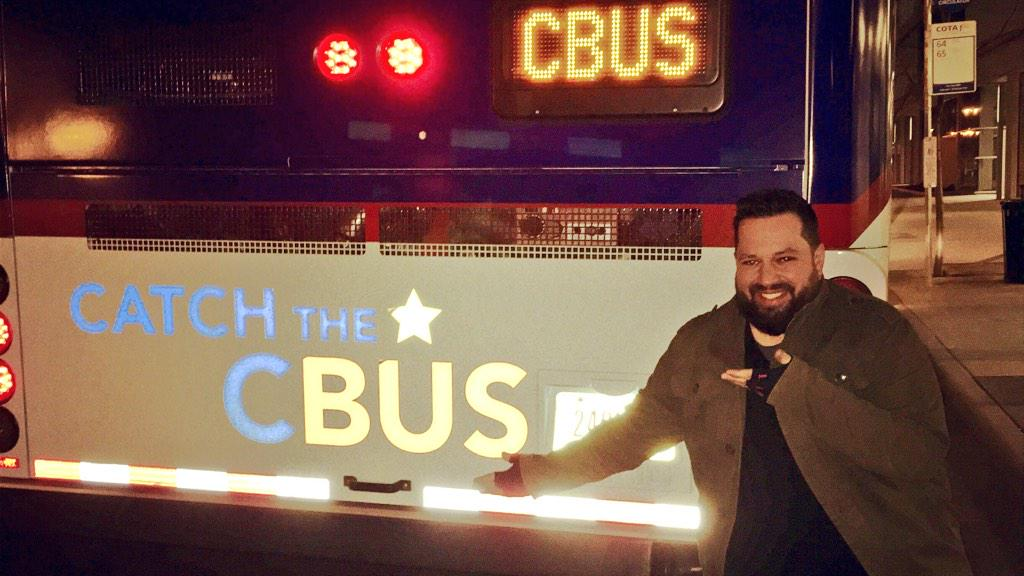 If you're partying tonight, #catchthecbus instead of driving. It's free & is running till 3am! #lifeincbus @COTABus http://t.co/7YhMCxJKXL